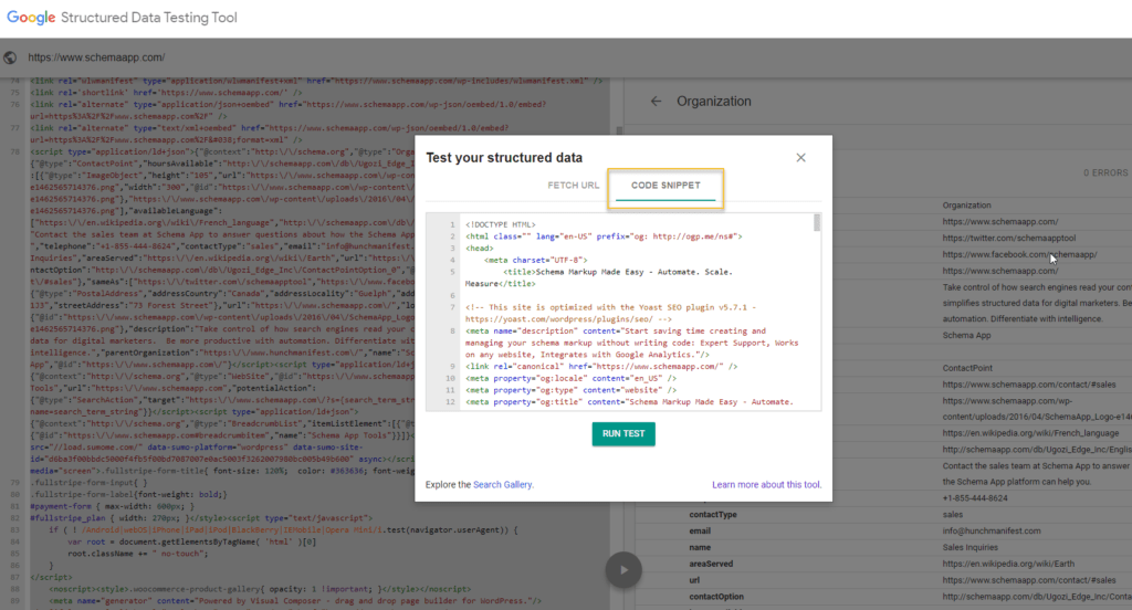 Test your structured data