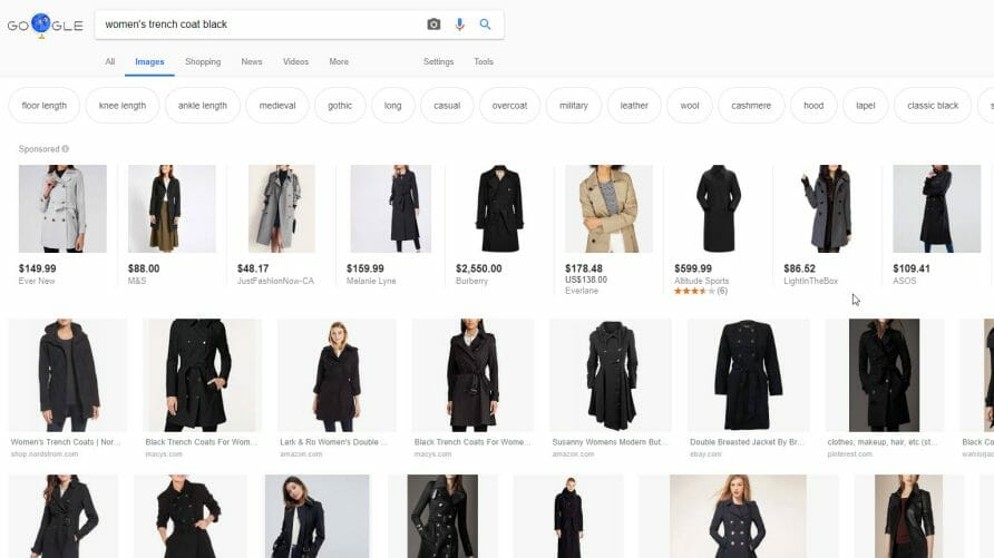 Trench Coat Product Search