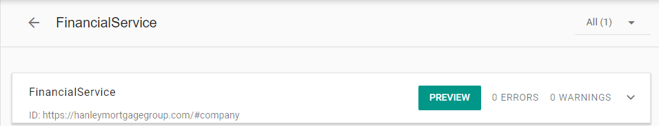 Google shows a preview button in the Structured Data Testing Tool or the Schema Markup Validator
