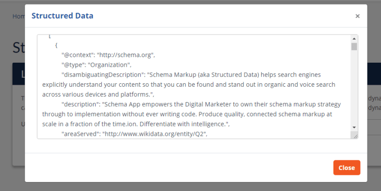 Schema App's Structured Data Tester