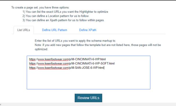 Add URLs