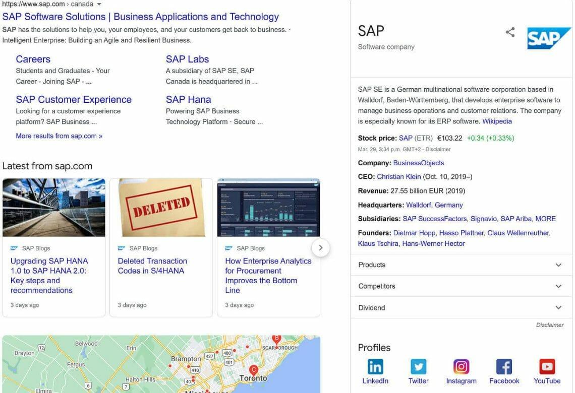 SAP Rich Results
