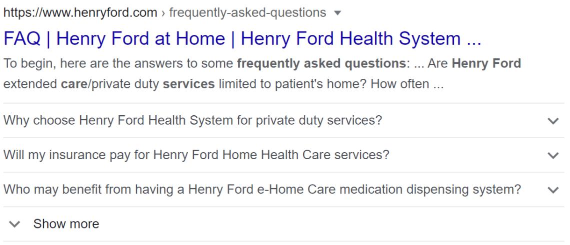 Henry Ford Health System Organization FAQs