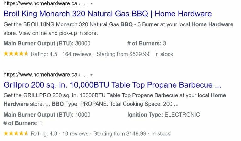 Home Hardware BBQ Rich Result