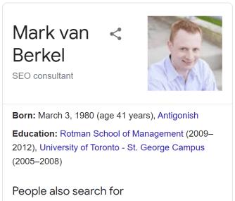 Mark van Berkel Desktop Knowledge Panel