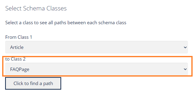 Schema Paths Article to FAQPage Class 2
