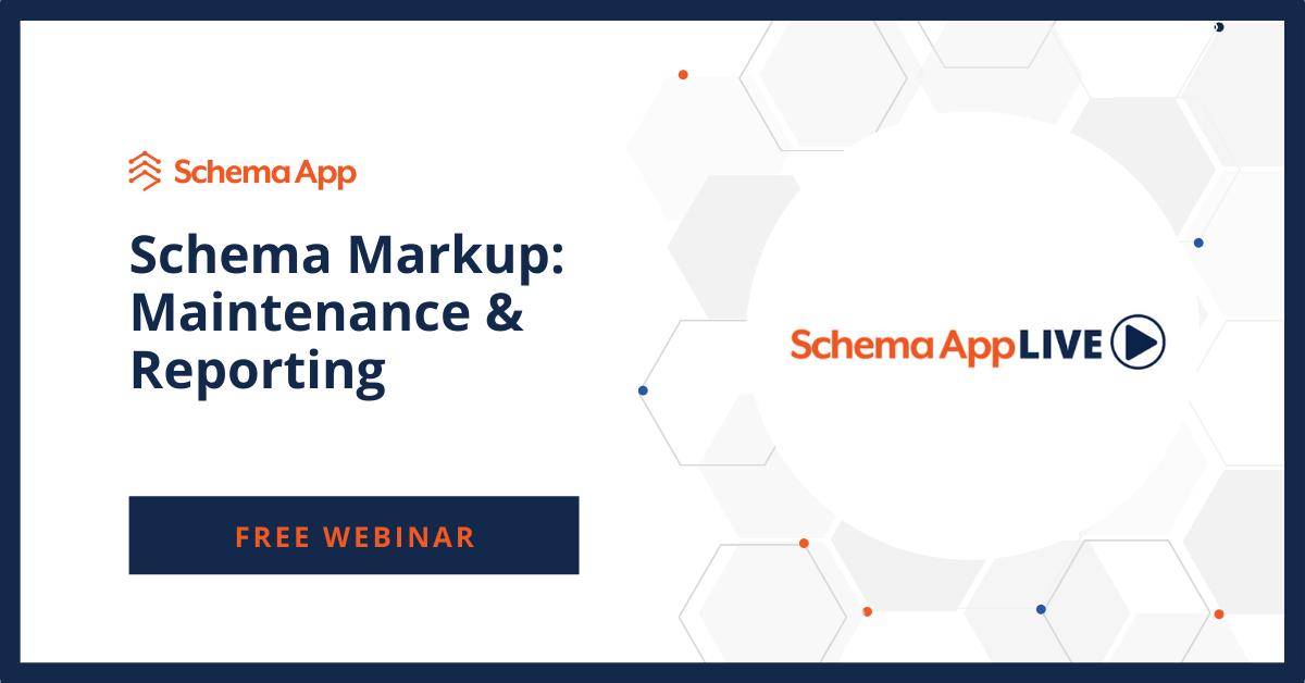 Schema App Live Maintenance & Reporting